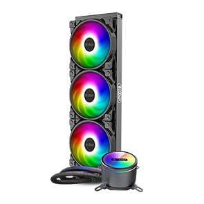 PCCOOLER GI-CX360 AIO - Enfriador de agua para CPU, LED RGB, 350 W TDP, Intel/AMD