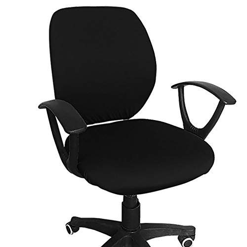 Melaluxe Computer Office Chair Cover - Protective & Stretchable Universal Chair Covers Stretch Rotating Chair Slipcover (Black)