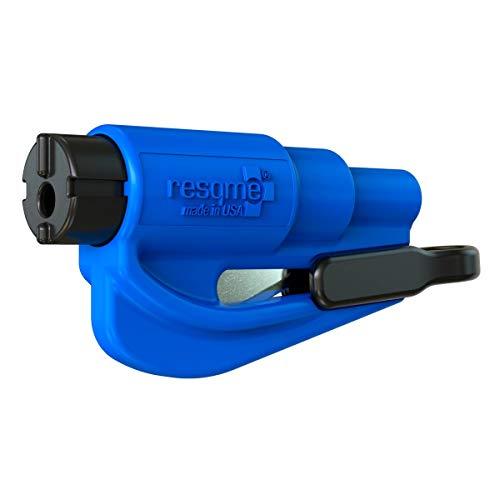 Resqme GBO-RQM-BLAU Accessorio di Sicurezza 2 in 1 per Portachiavi, Azzurro, 1 Pezzo