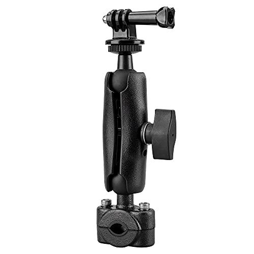 Lammcou 2in1 Camera Bike Mount, Soporte de Manillar de Motocicleta Compatible con GoPro Hero 9 8 7 6 Session Hero + 4K Osmo Action Camera Accesorios, 16cm