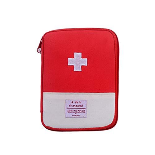 Xianheng Botiquín de Primeros Auxilios, Bolsa de Primeros Auxilios, Caja de Medicamentos Almacenamiento Portátil para Hogar, Campamento, Oficina y Automóvil