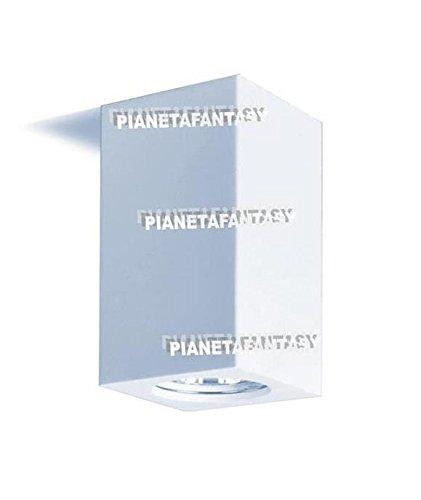 Lot de 10 porte-spots cubes pour intérieur en plâtre céramique PF23 + ressort bloque-ampoule.