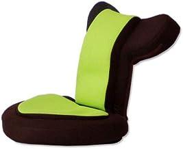 タンスのゲン 座椅子 ゲーム座椅子 低反発 メッシュ 14段 リクライニング 肘掛け 座面51cm 高さ41cm バディー グリーンブラウン 16210002 04AM 【64700】