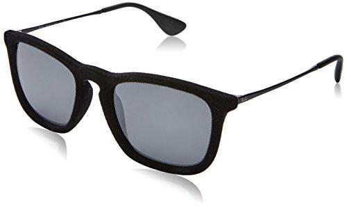 Ray-Ban Unisex Chris sammet solglasögon, flera färger (rack: Svart/Gunmetal, glas: Grå spegel 60756 G), stor (tillverkarens storlek: 54)