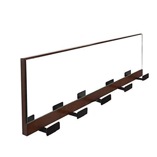 NSYNSY percheros para Muebles, Perchero Creativo de Madera Maciza | Percha de Pared | Se Puede Utilizar como Espejo | Sala de Estar Porche Baño | Marrón (Color: Marrón)
