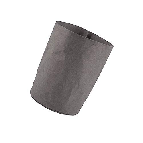 Fenteer Kraftpapier Übertopf Aufbewahrung Tragtasche Blumentopf Blumenübertopf für Sukkulenten Blumen, XS/S/M/L, Waschbar und hohe Qualität - Grau, L