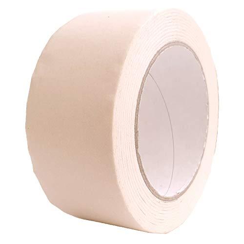 IMBALLAGGI 2000-6 Pezzi, Nastro Adesivo di Carta 50x50 Resistente 40 Gradi - Nastro Mascheratura per Imbianchino e Pacchi