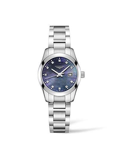 Longines orologio Conquest Classic 29,5mm Madreperla nera Acciaio Donna L2.286.4.88.6