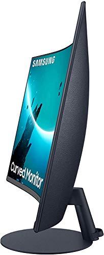 Samsung C27T550FDU 68,58 cm (27 Zoll) Curved Monitor (1.920 x 1.080 Pixel, 16:9 Format, 75 Hz, 4ms, 1000R, dual monitor geeignet, pc monitor, AMD FreeSync) dunkelblaugrau