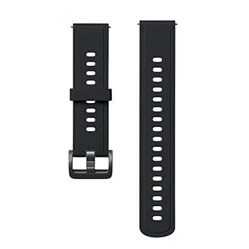 Wenyounge Banda de Reloj de liberación rápida, Bandas de Reloj de Goma de Silicona para Correa de cinturón de Pulsera de Reloj Inteligente de Color Mibro