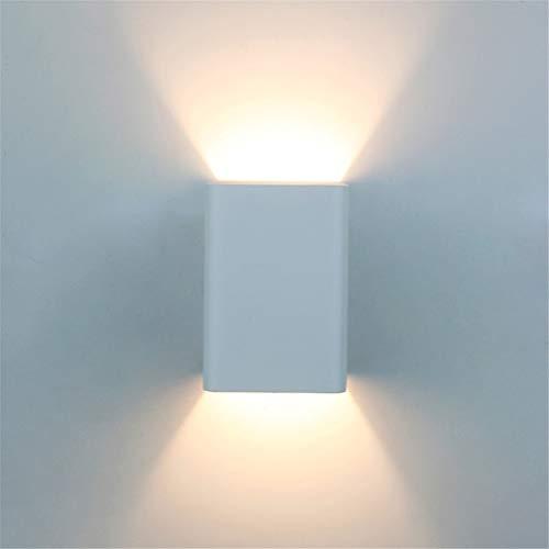 L'applique Murale Moderne À LED Avec Lumière Murale S'allume En Aluminium Pour Le Salon, La Chambre À Coucher, Le Hall, L'escalier, Le Passage, Une Lumière Chaude,White