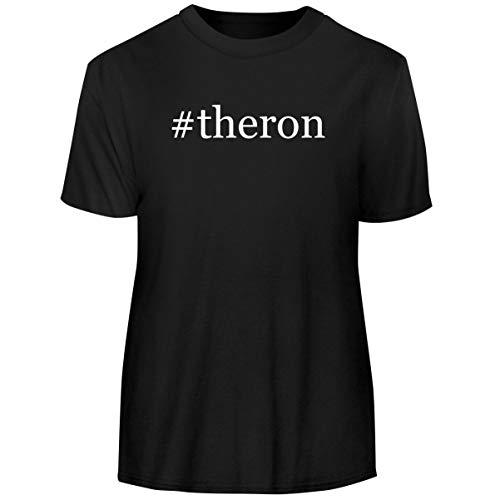 One Legging it Around #Theron - Hashtag Men's Funny Soft Adult Tee T-Shirt, Black, Large