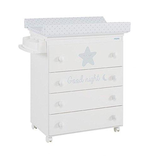 Micuna - Mueble bañera/cambiador istar blanco/gris estrellas gris