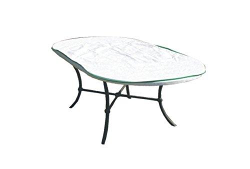 Bâche de protection pour table de jardin ovale en exclusivité en tyvek lagerbeutel pour dimensions à court blanc largeur de la table : 150 cm x 100 cm x h.15 cm