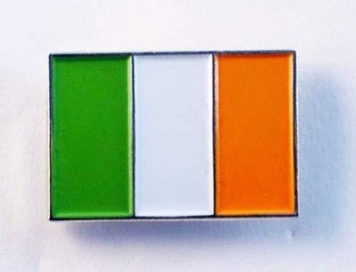Broche en métal émaillé, le drapeau irlandais