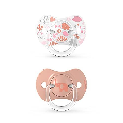 Suavinex Sx Pro Memories - Chupetes (6/18 meses), color rosa