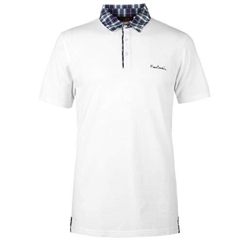 Pierre Cardin - Camiseta de manga corta para hombre blanco 3XL