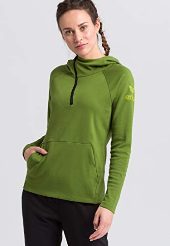 ERIMA Damen Sweatshirt Essential Kapuzensweat, twist of lime/lime pop, 48, 2071827