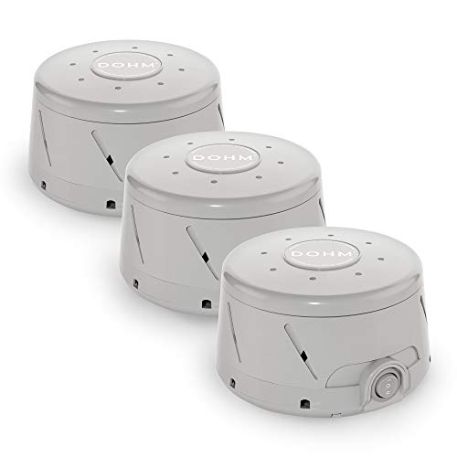 Yogasleep Dohm Classic (Gray) | The Original White Noise Machine | Soothing Natural Sound from a Real Fan | Noise Cancelling | Sleep Therapy, Office Privacy, Travel | 3 Pack