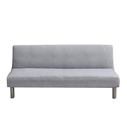 HALOUK Sofabezug ohne Armlehnen 3 sitzer,Spandex Sofahusse Elastisch Antirutsch Wasserdicht Bettcouch Stretchhusse Couchbezug-Hellgrau