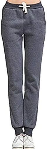 Dames Sweatpants Sweat Pant Manchetten Herfst Winter Warm Fleece Mode Basic Gevoerd Sport Broek Elastische Trekkoord Slacks Harem Broek Harem Broek Joggingbroek