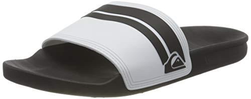 Quiksilver Rivi Slide, Zapatos de Agua. Hombre, Blanco, Negro y Blanco, 39 EU