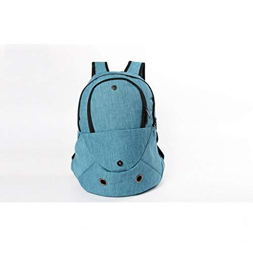 RUNWEI Amazon Explosión Moda Mascotas Excursión Mochila Frente Cofre Mochila Salida Bolsa De Transporte Suministros para Perros (Color : Blue)