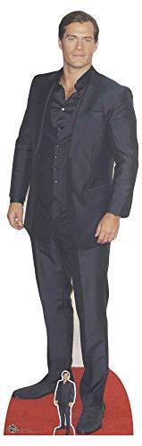 Star Cutouts Ltd CS768 Pappaufsteller Henry Cavill, Lebensgröße, 168 cm hoch, Mehrfarbig