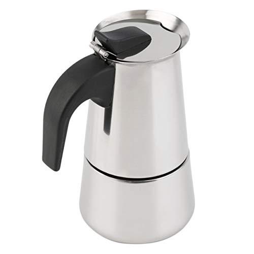 Morninganswer Cafetera Superior de la Estufa con percolador de 4 Tazas Moka Espresso Latte Olla Inoxidable