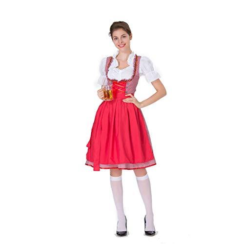 Mikelabo - Disfraz tradicional alemn para dama de honor, disfraz de cerveza Wench, disfraz de Oktoberfest, disfraz de mujer bvara