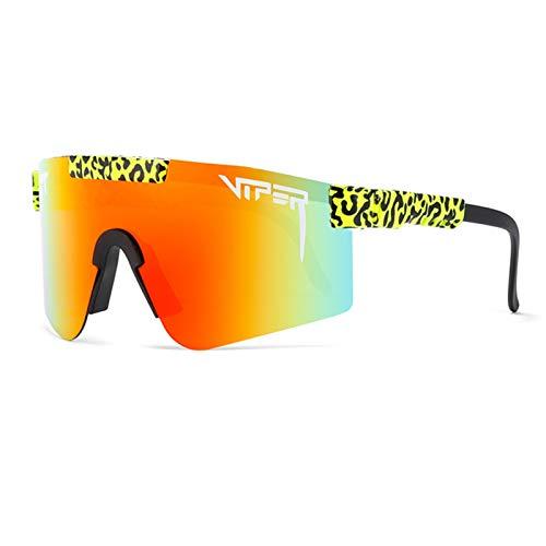 Qianghua Gafas de Sol Deportivas polarizadas, Gafas de protección UV 400 con Personalidad a la Moda y Coloridas, Marco Grande, para Deportes al Aire Libre Ciclismo Correr Escalada Pesca,A18