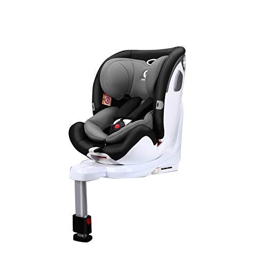 LILI Coche De Asiento De Seguridad Alemán para Bebés Bebe Bebe con 0-12 Años De Rotación De 360 Grados,Upgrade-SpaceGray