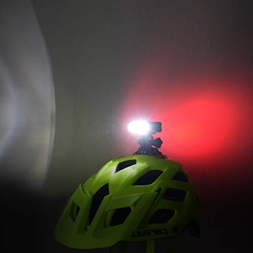 Fahrradhelm Licht, WASAGA 200 Lumen LED Fahrradhelm Licht 3 Modi USB wiederaufladbar wasserdicht Fahrrad Fahrrad Scheinwerfer und 5 Modi Fahrrad Rücklicht Perfekt für Reiten oder Outdoor-Aktivitäten