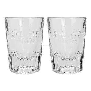 Bulleit Frontier Whiskey Shotgläser - 2X Shot Glas Gläser / 2er Set 2cl Glas