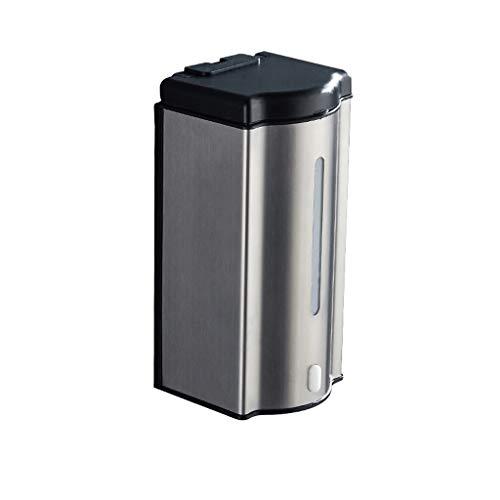 Dispensador de jabón automático Dispensador de jabón 600ml Capacidad Montaje en Pared Dispensador de Ducha de Lavado Botella Líquida Contenedor de Loción Bomba de Acero Inoxidable Bomba de Jabón