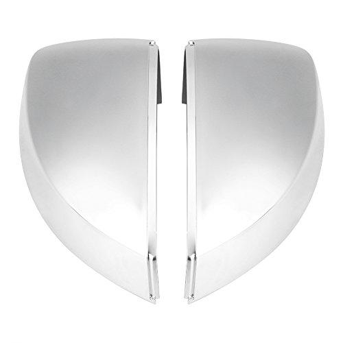 Keenso 1 Paar Spiegelkappen T/ür Spiegelkappen R/ückspiegelkappe Spiegelkappen abdeckungen Seitenspiegel abdeckungen Silber B8 A4 A5 A6