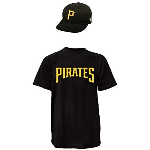 Majestic Pittsburgh Pirates Adult Cap/Adult Medium Replica Jersey Combo Black/Yellow