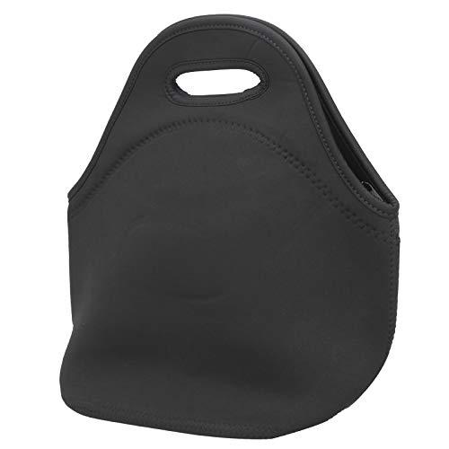 Pwshymi Multifunktionsbeutel mit Reißverschluss vorne Doppellagiger Picknickbeutel aus Mesh Isolierter thermischer Lunchbeutel für die Wäscherei(Pure Black)