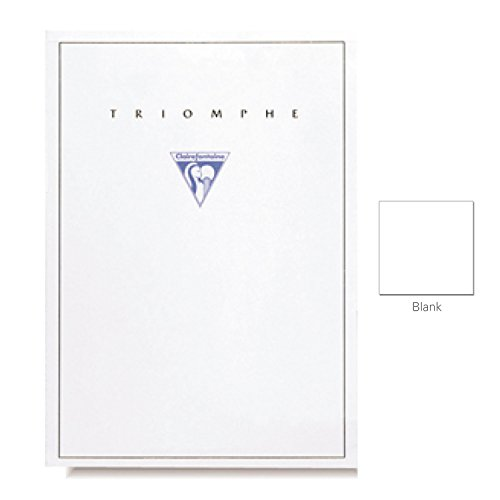 """Clairefontaine """"Triomphe"""" Stationery Tablet, Blank, A4 (8.25"""" x 11.75"""")"""