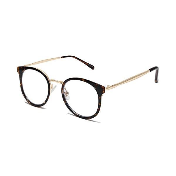 SOJOS Round Anti Blue Light Blocking Glasses Women TR90 Computer Eyeglasses SJ5055