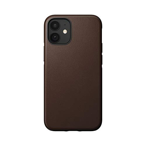 NOMAD Back Cover Rugged Brown, Leather Funda para teléfono móvil Back Cover Rugged Brown, Leather, Apple, iPhone 12 Mini