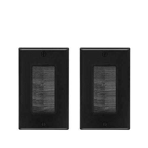 VCE 2 Stück Unterputzdosen Abdeckungen Kabeldurchführung Wand Wandauslassdose Kabeldurchführung Unterputz schwarz