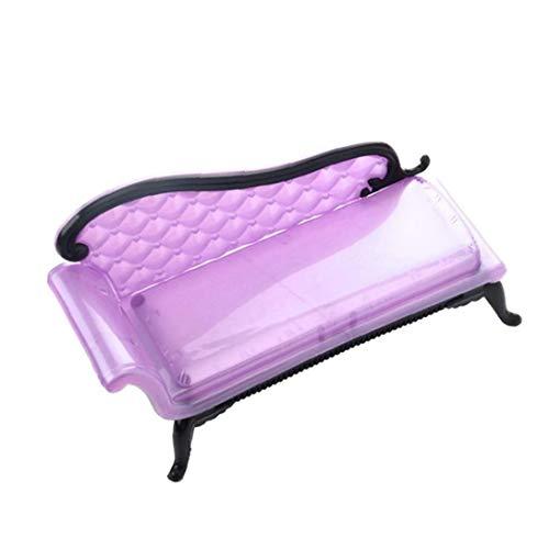 TOPofly 1PC casa de muñecas en Miniatura Muebles calesa sofá-Azul o púrpura, Color al Azar por Conveniencia