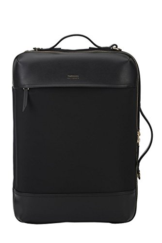 Targus Newport Travel and Commuter Trendy and Modern Design fit 15-Inch Laptop Convertible 3-in-1 Backpack, Black (TSB947GL)