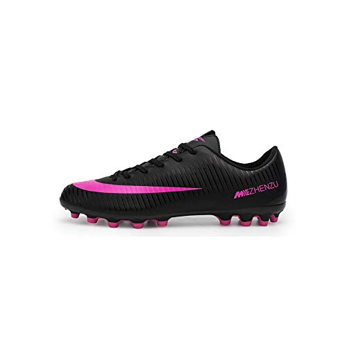 V Do Breatheable Soccer Shoes Cleats for MenLadies Unisex Football Boots Youth BoysGils Trainers Black, 5 UK