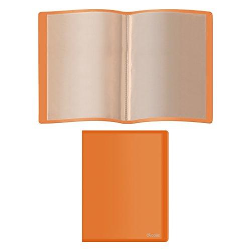 Dohe 91395 - Carpeta polipropileno con 40 fundas, flexible, color naranja 🔥