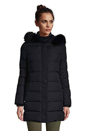 Lands' End Womens Down Winter Coat Black Regular Medium