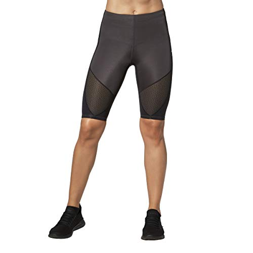 CW-X Women's Stabilyx Ventilator Joint Support Compression Short, Charcoal/Black, Large