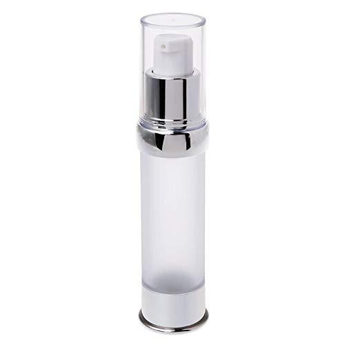 Cosméticos vacíos Viaje Bomba de Botella sin Aire Bomba vacía Spray Estuche cosmético Botellas de loción 15/20 / 30ml Viaje Recargable (Color : Silver, Specifications : 30ml)