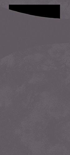 Duni 161087Sacchetto Besteck Taschen mit gefaltet Tissue Servietten Innen, Granit grau Sacchetto und schwarz Serviette, 8,5cm x 19cm, Farbe Granit Grau Sacchetto und schwarz Serviette (500Stück)